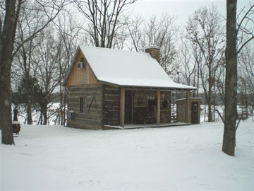 The Cardwell Cabin, winter snow