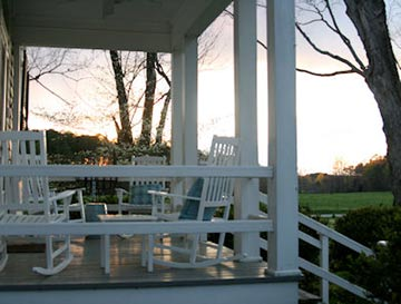 The Inn at Bingham School porch