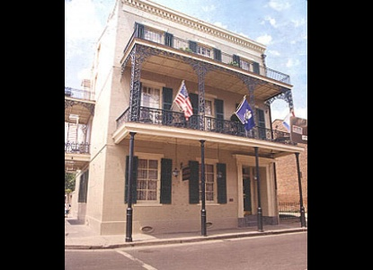 1849 French-style manor and art gallery featuring mansion, courtyard, and balcony style rooms with New Orleans and International art throughout. Located on world-famous Bourbon Street.