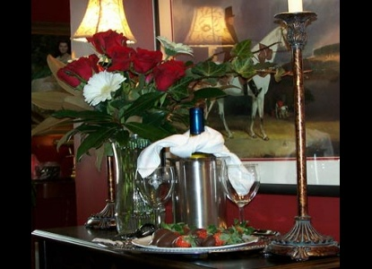 Upon arrival, your beautiful storybook suite will have gourmet truffles or homemade chocolate dipped strawberries
