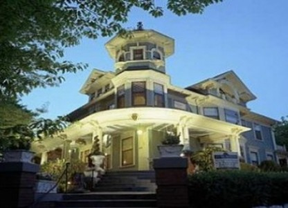 This majestic 1906 Queen Anne Victorian, listed on the National Register of Historic Places, takes you away to another time.