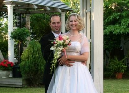 White Doe Inn, bride and groom
