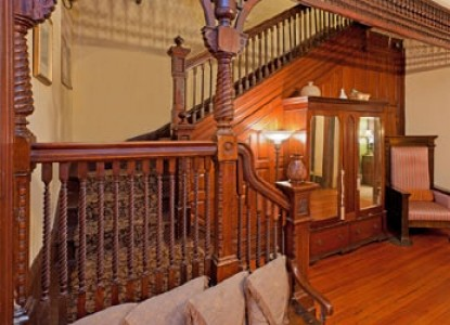Akwaaba Bed & Breakfast staircase
