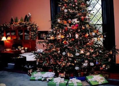 1853 Inn at Woodhaven christmas tree