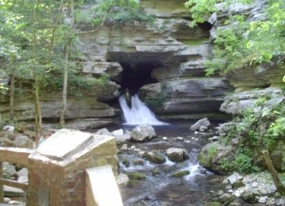 Blanchard Caverns Cabin, waterfall