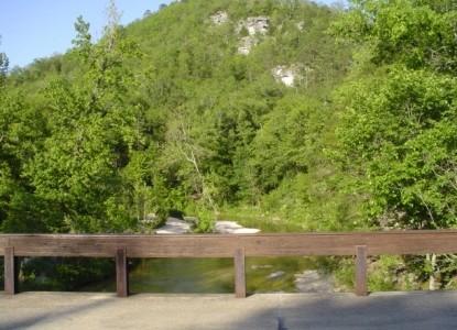 Blanchard Caverns Cabin, stream