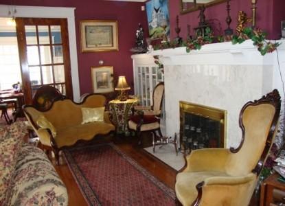 The Villa Bed & Breakfast main parlor