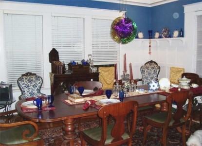 The Villa Bed & Breakfast dining room