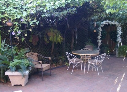 The Villa Bed & Breakfast private courtyard