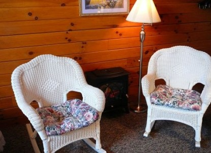Fields of Home Lodge and Cabins wicker chairs