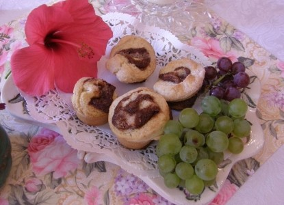 Cinnamon Biscuits and Local Grapes. Breakfast Goodies. Oh, so delicious!