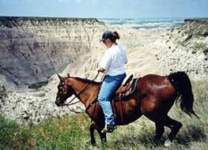 Triangle Ranch Bed & Breakfast near Badlands National Park, South Dakota, horseback riding