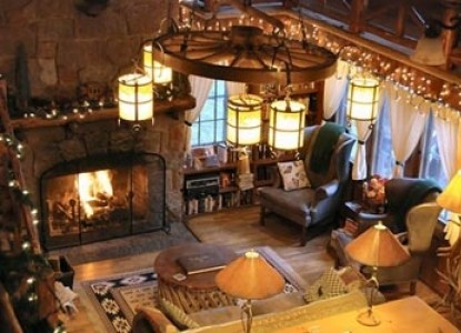 America's Rocky Mountain Lodge & Cabins fireplace