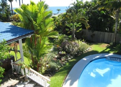 Orchid Tree Bed & Breakfast, Covered Lanai