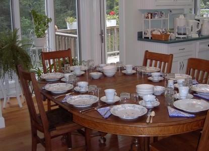 Oak Haven Bed & Breakfast dining