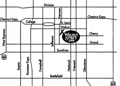 Walnut Street Inn Bed and Breakfast, map