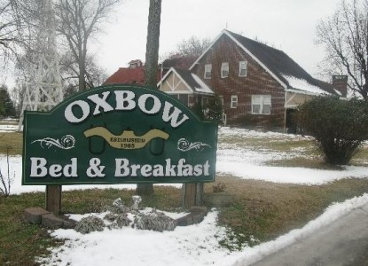 Oxbow Bed & Breakfast, marquee