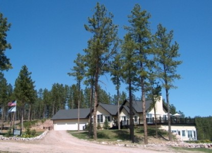 Peregrine Pointe Bed & Breakfast tall trees