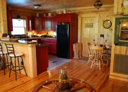 The Cabin at the Lodge Bed & Breakfast, kitchen