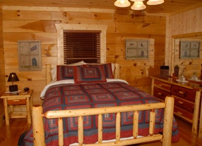 The Cabin at the Lodge Bed and Breakfast, Bedroom