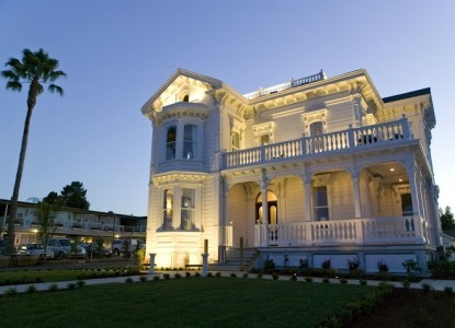Stately, three-story Italianate Victorian situated on a bluff across from the beach, just 75 miles south of San Francisco.