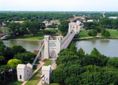 Historic Waco, Texas Suspension Bridge