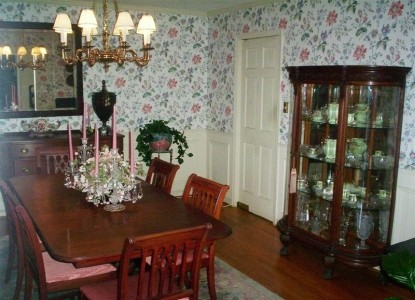 The Shaw House Bed and Breakfast, dining table