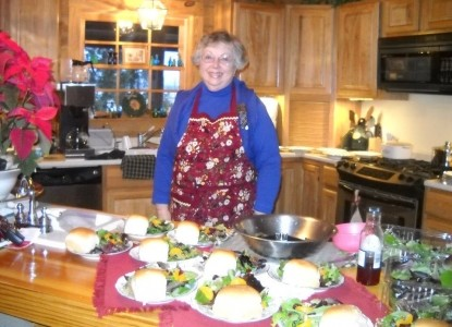 Quigley's Log Home B&B cooking