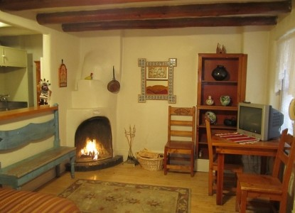 Pueblo Bonito Bed & Breakfast fireplace