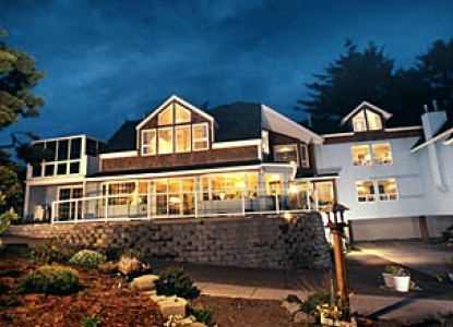 Unforgettable, a gracious oceanfront inn; all  rooms have fireplaces, stunning ocean views, some with luxury spa baths.