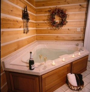 Cabins & Candlelight, LLC, whirlpool tub