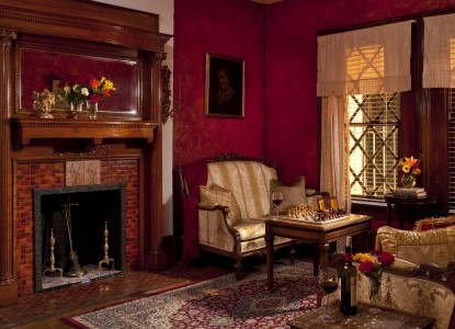 American Guest House-Fireplace
