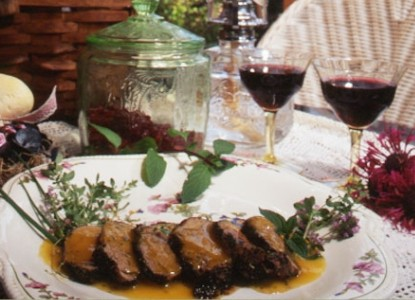 Herb-Crusted Pork Tenderloin with Apricot Puree - (serves 6)