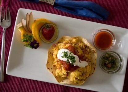 BBO High Pointe Inn breakfast