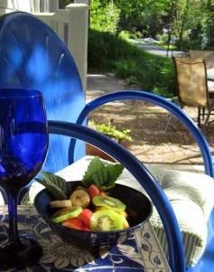 Purple Gables Bed & Breakfast blue chair