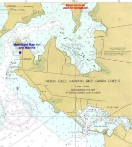 Moonlight Bay Inn and Marina, map