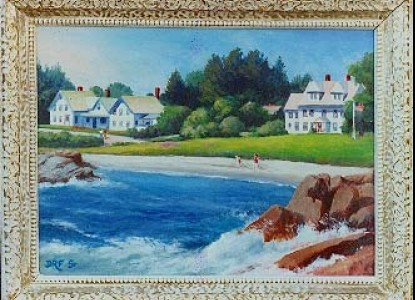 Acadia's Oceanside Meadows Inn, painting