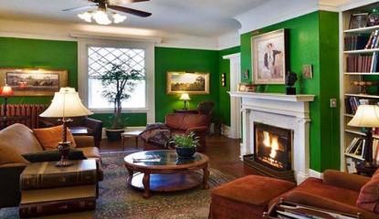 Inn at Lake Joseph, Forestburgh, New York, fireplace
