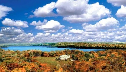 Inn at Lake Joseph, Forestburgh, New York, open skies