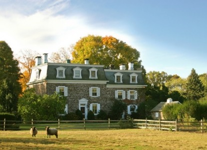 Named in the Top 10 B&B's in the U.S. A romantic estate only 5 minutes from New Hope and Lambertville.