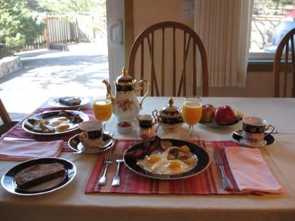 Zen Garden Bed and Breakfast Brekfast food