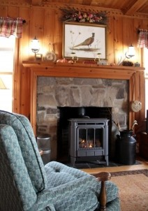 The Brewster Inn-seat by the fireplace