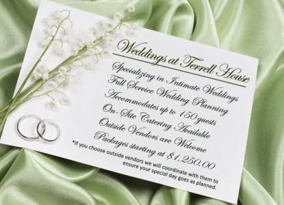 Terrell House, Weddings