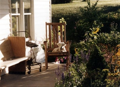 Monroe Archers Farm Co. Bed & Breakfast, porch