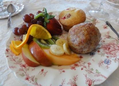 Corner George Inn Bed & Breakfast, plate of food