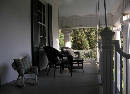 Belle Oaks Inn Bed and Breakfast Gonzales, Texas - covered porch