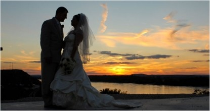 Hermann Hill Vineyard Inn  Spa, Riverbluff Cottages and Wedding Chapel-Wedding Couple