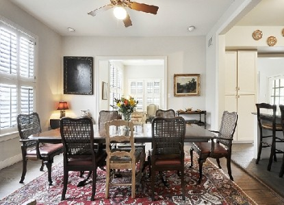 Adams House Bed and Breakfast in Austin, Texas - dining table