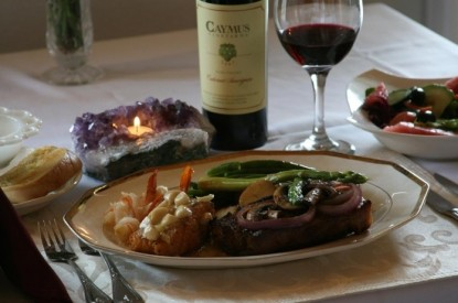 Echo Canyon Spa Resort Bed and Breakfast dinner