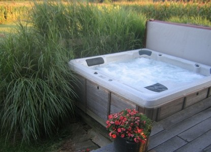 Starlight Country Cabin 1830's hot tub